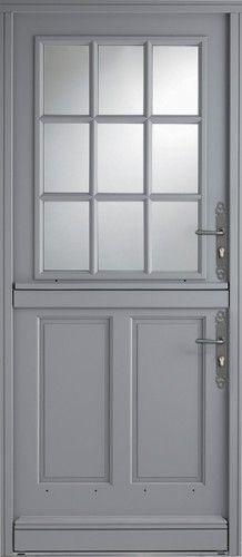valen ay porte d 39 entr e en bois haute performance avec partie vitr e maison pinterest. Black Bedroom Furniture Sets. Home Design Ideas