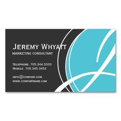 Modern Marketing Consultant Business Cards