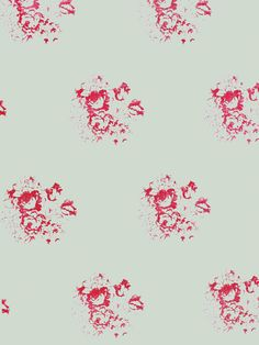 Cabbages & Roses Cerise Wallpaper