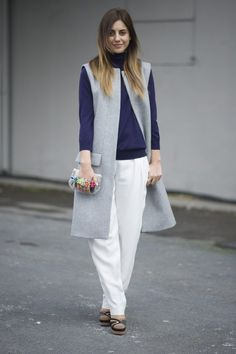 Pin for Later: Spätsommertage verbringt man am besten mit diesem Kleidungsstück Street Style Inspiration: Westen