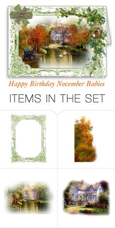 """For November Babies"" by sjlew ❤ liked on Polyvore featuring art"