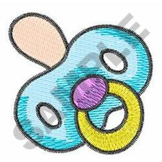 Babies Embroidery Design: BABY PACIFIER from Great Notions
