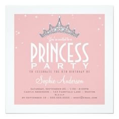 233 best Princess Birthday Party Invitations images on Pinterest ...