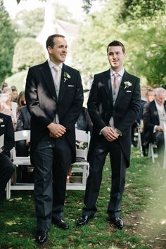 Groomsmen In Top Tails Outdoor Pastel Country Garden Wedding At Barnsley House In Cirencester