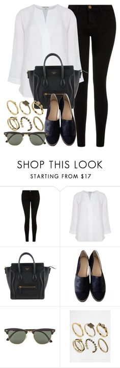 """Style #10291"" by vany-alvarado ❤ liked on Polyvore featuring Current/Elliott, Whistles, Chanel, Ray-Ban and ASOS"