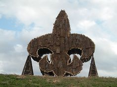 built of wood for the Bonfire on the levee's in Lutcher, LA