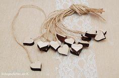 Hochzeitsdeko - Herzen Holz Deko Hochzeit - ein Designerstück von schoengemachtes- bei DaWanda
