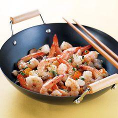 Poêlée de surimi et de crevettes Recette | Weight Watchers