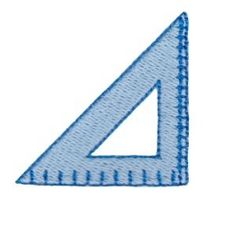 Mini Geometry Triangle Filled Design - 4X4!   back-to-school   Machine Embroidery Designs   SWAKembroidery.com Bunnycup Embroidery