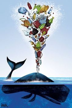Save our seas l save the sea l save the whales l say no to plastic l whale conservation quotes l ocean conservation quotes l save our oceans Save Planet Earth, Save Our Earth, Save The Planet, Rettet Die Wale, Environmental Posters, Satirical Illustrations, Ocean Pollution, Plastic Pollution, Save The Whales