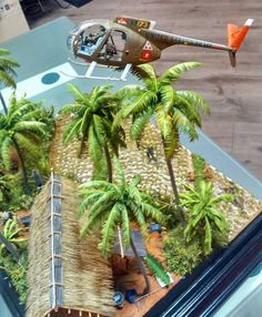 "Armorama :: ""Low Level Hell"" diorama; test with helo"