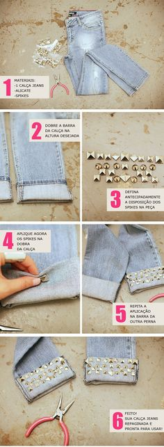 DIY: Customizar Calça Jeans - Blog de Moda e Look do dia - Decor e...