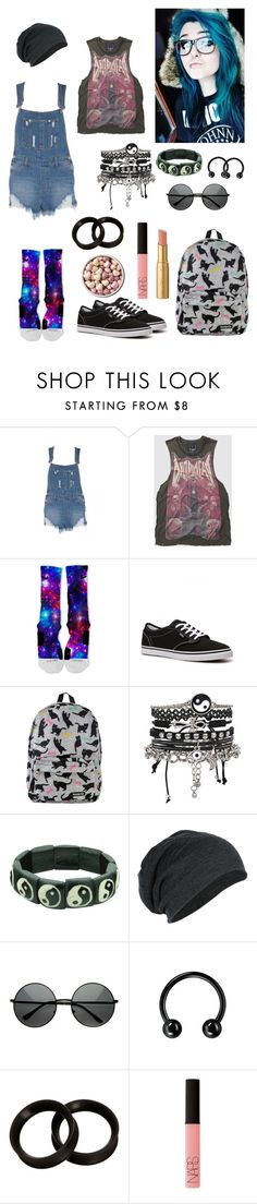 """Out and about"" by anchorsandairwaves ❤ liked on Polyvore featuring NIKE, Vans, ASOS, ZeroUV, KAOS, Too Faced Cosmetics and NARS Cosmetics"