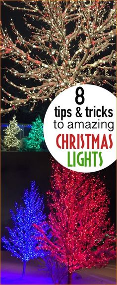 Outdoor Lights Tips and Tricks. Amazing outdoor lighting options. How to hang roof lines correctly. Holiday light son steroids. Tips to hanging and storing Christmas lights. How to light outdoor and indoor Christmas trees.
