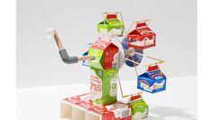 中観覧車(ちゅうかんらんしゃ)|簡単!牛乳パックで作ろう 楽しい工作|雪印メグミルク株式会社 Projects To Try, Miniatures, Toys, How To Make, Crafts, Free, Activity Toys, Manualidades, Clearance Toys