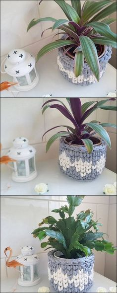 Trendy Crochet Patterns And Designs For Your Personal Use - Diy Crafty Crochet Bowl, Cute Crochet, Knitting Patterns, Crochet Patterns, Crochet Ideas, Diy Crochet Flowers, Box Patterns, Crochet Bracelet, Crochet Handbags