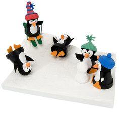 DecoArt® Penguins in Winter #claypot #craft