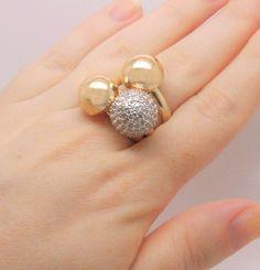 trio de anéis semi joia