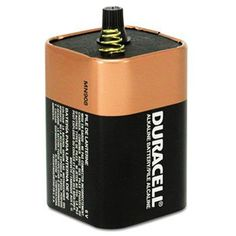 Duracell® Coppertop® Alkaline Lantern Battery BATTERY,LANTERN,6 VOLT (Pack of8) by Duracell. $17.10. From search and rescue missions to backyard camping outings, Duracell? Lantern batteries are Trusted Everywhere? to provide reliable, long-lasting power. Enhanced secure seal ensures safe, leakage- and corrosion-free operation. Date coded to ensure peak performance. Battery Type: Alkaline; Battery Size: Lantern; For Use With: Lanterns and Flashlights.
