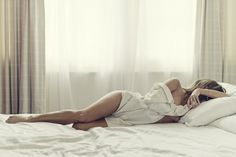 in the sheets. men's tshirt. awesome boudoir shoot.