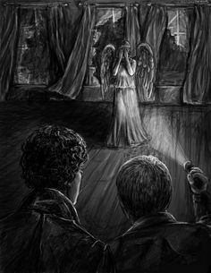 Wholock. I'm in heaven. Perfection. (http://kirstendraws.tumblr.com/post/80384718755/76-365-john-whatever-you-do-dont-blink)
