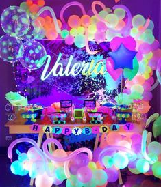 Neon Birthday, 13th Birthday Parties, Birthday Party For Teens, 14th Birthday, Sleepover Party, Spa Party, Sleepover Activities, Dance Party Birthday, Glow In Dark Party