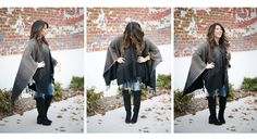 The Collaboration Blog: Lunch Date Casual  Poncho > @ Stitch Boutique A Piece of Me Jeans> @ Inspyre Boutique  Toro Boots > @ Inspyre Boutique Gold Watch > @ Michael Kors Gold stackable rings > @ Inspyre Boutique  Poncho, Knee High Boots, Fall Fashion