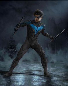 "New concept art of Nightwing in DC Universe's ""Titans"" by Alan Villanueva Batman Kunst, Batman Art, Batman Comics, Batman Concept Art, Gotham Batman, Starfire Comics, Nightwing And Starfire, Nightwing Wallpaper, Titans Tv Series"