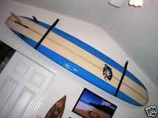 surfboard hung on wall with leather straps - Google Search