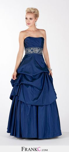 princess prom dress,blue prom dress
