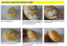 let'sgetcattyebook - rockartusa-sample page in ebook!!..How to paint a brown striped tabby!!
