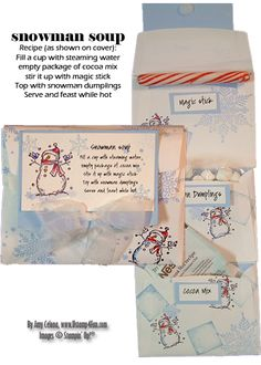 Snowman Soup - Ustamp4fun.com - Amy Celona, Stampin' Up! Demonstrator