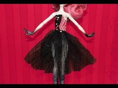 How to make a ballerina slip dress for Monster High or Ever After High dolls.