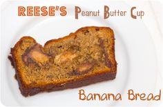 Reese's Peanut Butter Cup Banana Bread via Cupcake Crazy Gem!