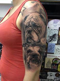 a276b4f60 Shoulder Arm Realistic Dog Tattoo by Putka Tattoos Tattoos For Dog Lovers,  Leg Tattoos,