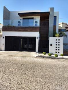 Portón 1 House Front Design, Small House Design, Modern House Design, Modern House Facades, Modern Architecture, Minimalist House Design, Dream House Exterior, Sims House, Facade House