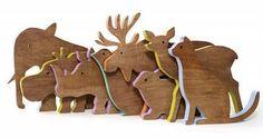 Enormouschampion. набор стильных и экологичных фигурок животных, сделанных ...