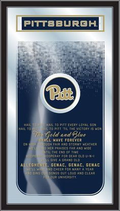 fe577ebac2b Fight Song Logo Mirror - University of Pittsburgh Panthers