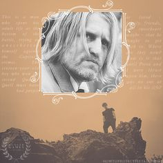 First you think he's just a drunk and then you learn why and then you realize you would probably be in in exactly the same shape had it been you. Haymitch- great character.