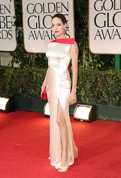 Angelina Jolie arrives at the 69th Annual Golden Globe Awards held at the Beverly Hilton Hotel on January 15, 2012 in Beverly Hills, California.  (January 14, 2012 - Photo by Jason Merritt/Getty Images North America) #AngelinaJolie #GoldenGlobes