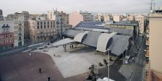 Designed by MiAS Arquitectes, When I was a student at the Barcelona School of Architecture (ETSAB), the maritime neighborhood, Barceloneta, Folding Architecture, School Architecture, Public Square, Urban Fabric, Glass Facades, Dezeen, Sun Lounger, The Neighbourhood, Barcelona