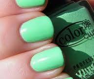 springtime seafoam colored nails