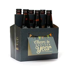 Beer Greetings - Birthday - Six Pack Greeting Card Box (Set of 4 Card Boxes in Two Birthday Designs)