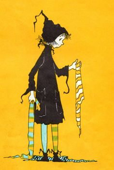 Dorrie the Little Witch and her stockings