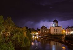 I've Spent 2 Years Photographing Thunderstorms In My Hometown Of Oradea, Romania Art Nouveau Architecture, Thunderstorms, Taj Mahal, City, Amazing, Building, Photography, Travel, Beautiful