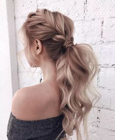 # loose Braids curly 99 Spectacular French Braid Hairstyles Ideas You Must Try Now Loose French Braids, Loose Braids, Braids For Long Hair, Loose Ponytail, Bridesmaid Hair Ponytail, French Braid Ponytail, Ponytail Wedding Hair, Hair Wedding, Formal Hair