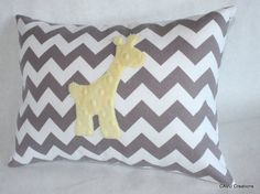 Hey, I found this really awesome Etsy listing at https://www.etsy.com/listing/192854619/giraffe-nursery-pillow-cover-gray