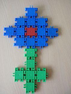 bloem maken met clics Diy For Kids, Crafts For Kids, Lego Duplo, Pattern Blocks, In Kindergarten, Planting Flowers, Cool Stuff, Patterns, Games