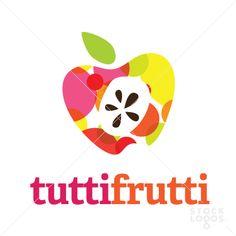 Tutti Frutti - colorful fruit logo