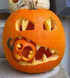 01 calabaza de halloween tallada